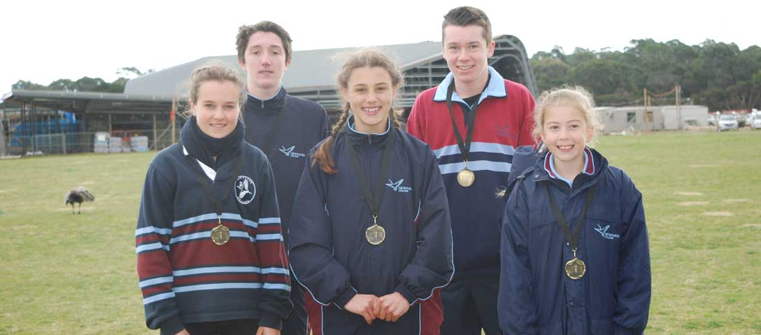 Five Cross Country Champions for our College